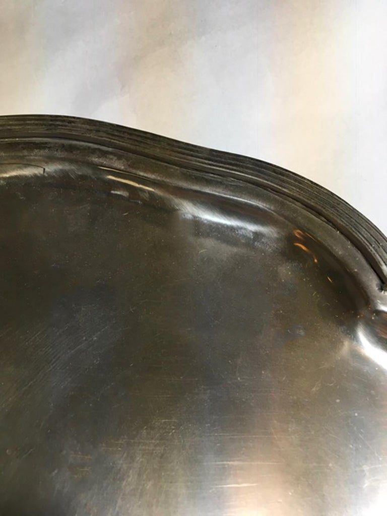 France Pewter Oval Large Tray in French Provencial Style  For Sale 5