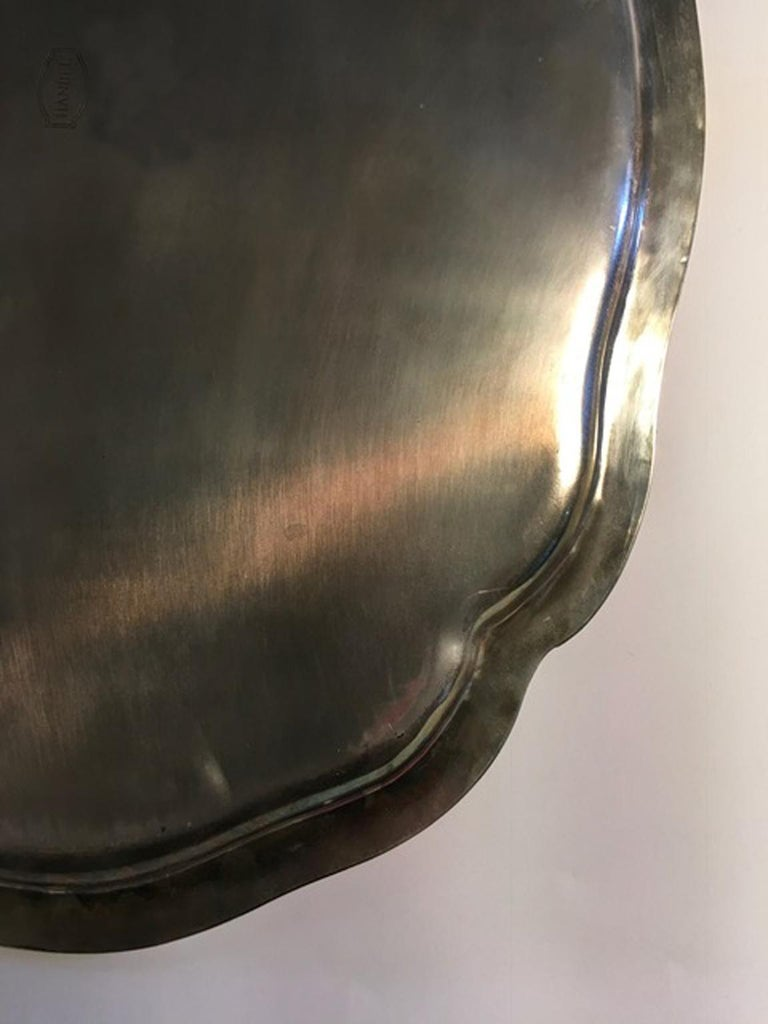 France Pewter Oval Large Tray in French Provencial Style  For Sale 11
