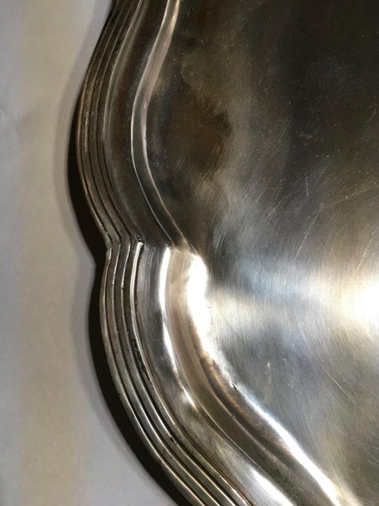 France Pewter Oval Large Tray in French Provencial Style  For Sale 12