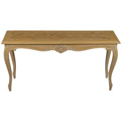 French Provincial Style Rustic Long Narrow Sofa Console Table