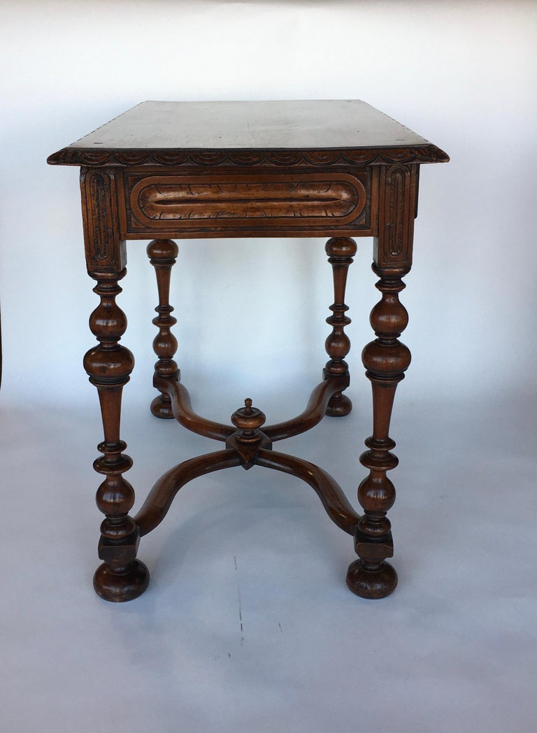 Walnut French Provincial Table For Sale