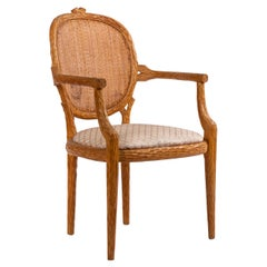 French Provincial Wooden Side / Dining Armchair