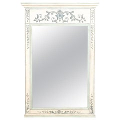French Provinical Style White Washed Mirror