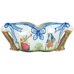 French Quimper Faience Jardiniere
