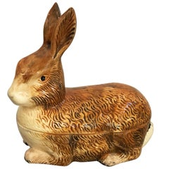French Rabbit Tureen or Pate Dish by Michel Caugant