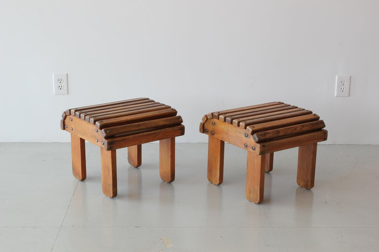 Mid-20th Century French Railroad Stools For Sale