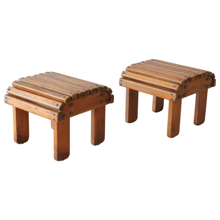 French Railroad Stools For Sale