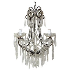 French Rare Cut Crystal with Center Spear Chandelier
