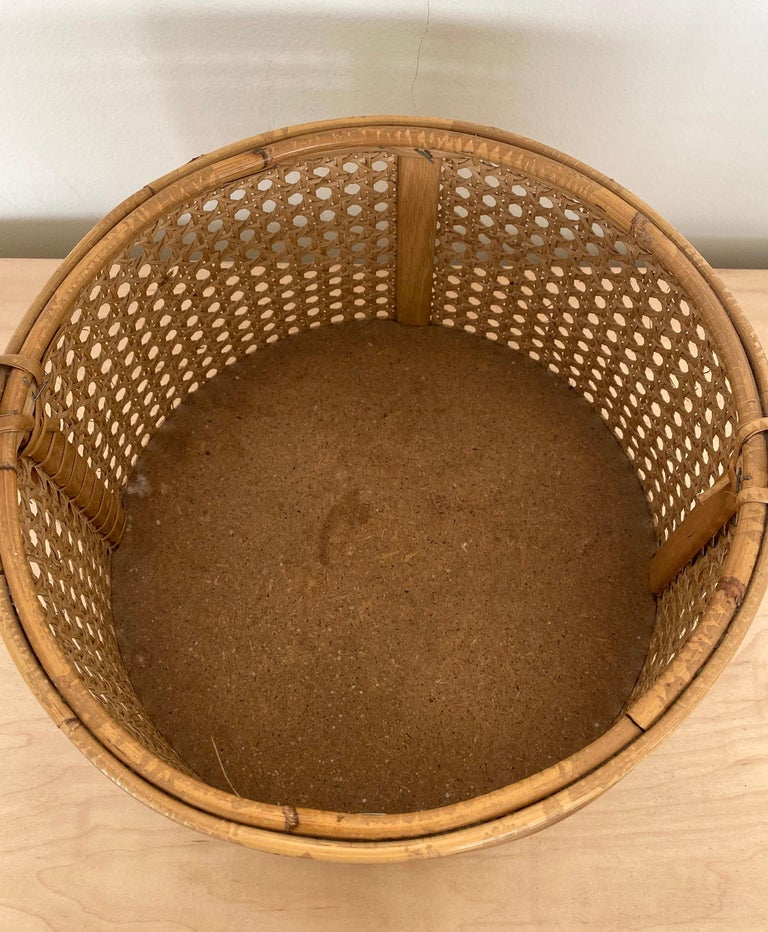 French Rattan and Cane Bottle Holder For Sale 2