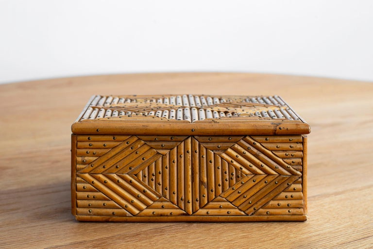 French Rattan Box For Sale 2