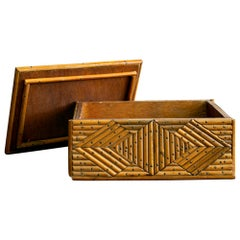 French Rattan Box