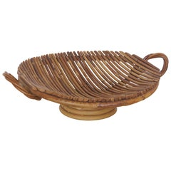 French Rattan Circular Tray