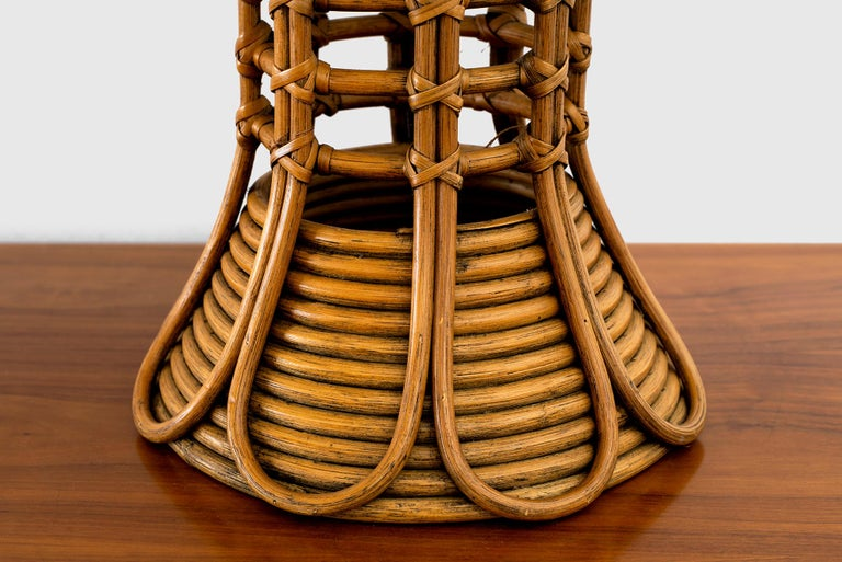 French Rattan Lamp For Sale 1
