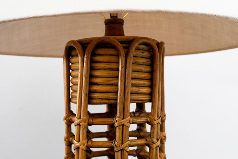 French Rattan Lamp For Sale 2