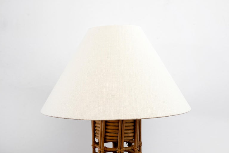 French Rattan Lamp For Sale 4