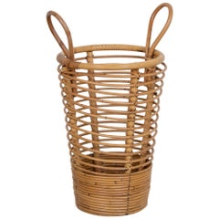 French Rattan Umbrella Holder