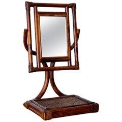 French Rattan Vanity Mirror