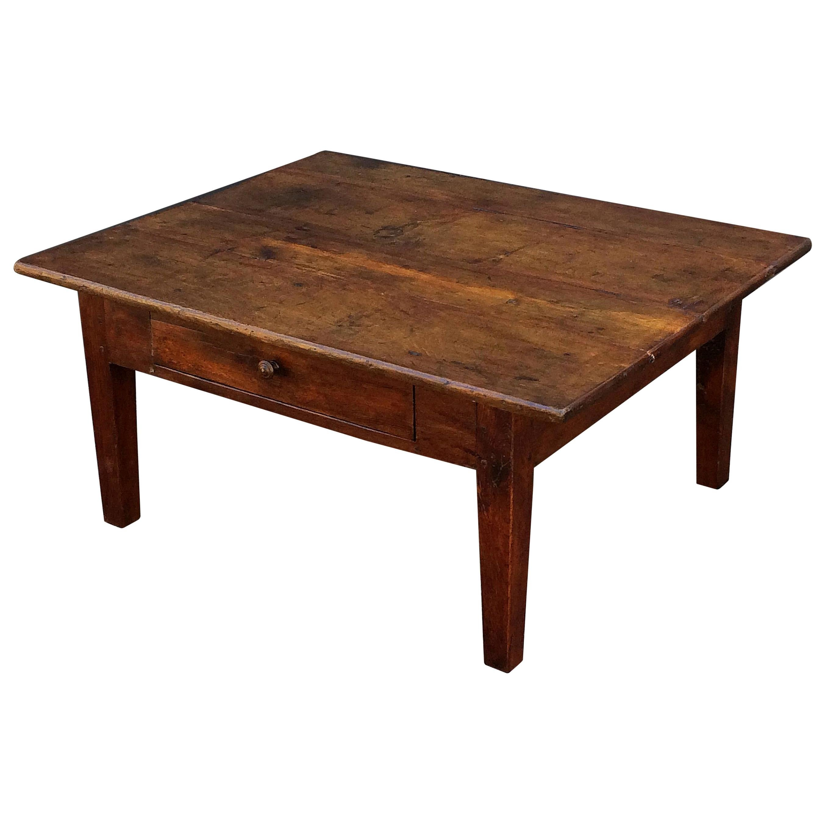 French Rectangular Low Table of Oak