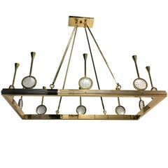 French Rectangular Moderne Style Chandelier