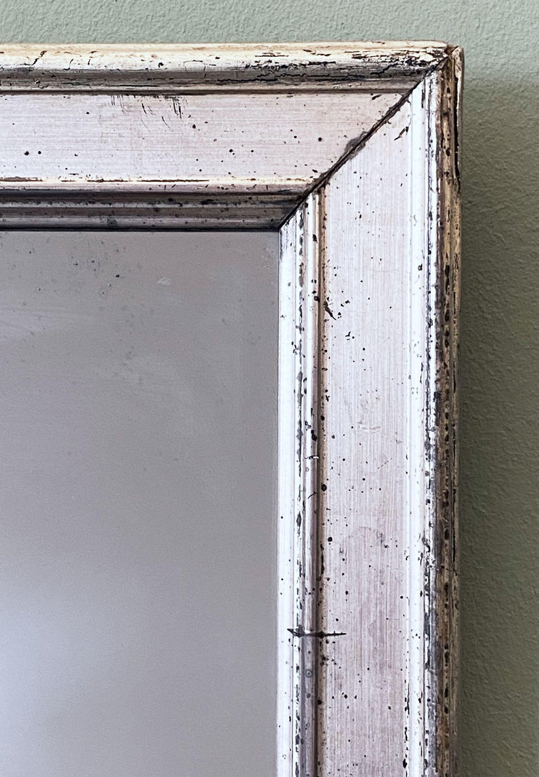 French Rectangular Silver Gilt Wall Mirror (H 19 1/2 x W 12 1/4) For Sale 7