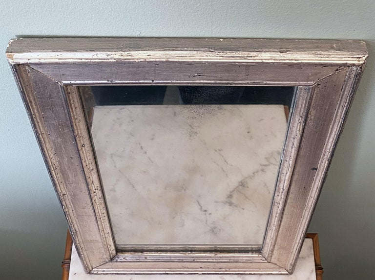 French Rectangular Silver Gilt Wall Mirror (H 19 1/2 x W 12 1/4) For Sale 8