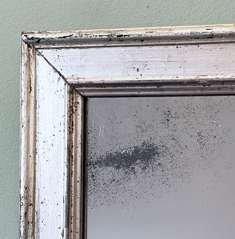 French Rectangular Silver Gilt Wall Mirror (H 19 1/2 x W 12 1/4) For Sale 10