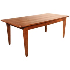 French Refectory Table 19th Century in Chestnut