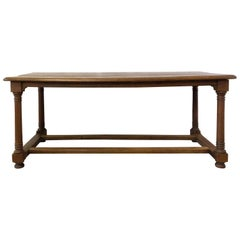 French Refectory Table Late 18th Century Provincial Oak Server Dining Table