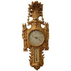 French Regence Style Giltwood Barometer