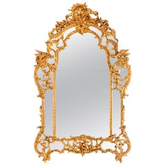 French Regence Style Giltwood Mirror, 18th Century