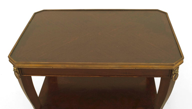 Regency French Regencey Style Mahogany Coffee Table, by Jansen For Sale