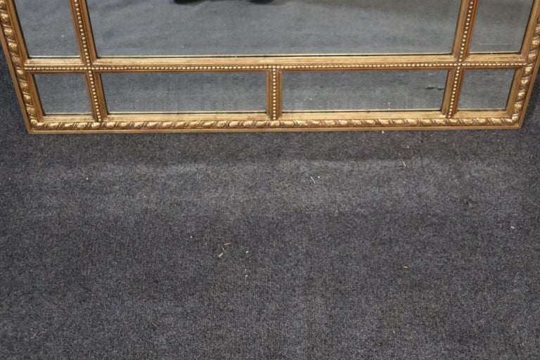French Regency Carved Gilded Beveled Glass Mantle Buffet Mirror Decorative Arts In Good Condition For Sale In Swedesboro, NJ