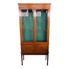 French Regency Style Sheraton Cabinet, 19th Century