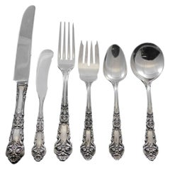 French Renaissance by Reed & Barton Sterling Silver Flatware Service 59 Pcs Rare