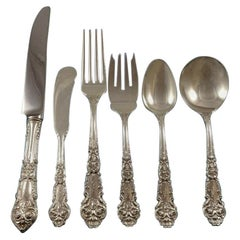 """French Renaissance by Reed & Barton Sterling Silver Flatware Set 8 Monogram """"S"""""""