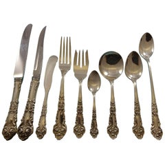 French Renaissance by Reed & Barton Sterling Silver Flatware Set Service 72 Pcs
