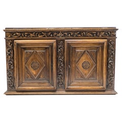 French Renaissance Carved Oak Sideboard, 18th Century