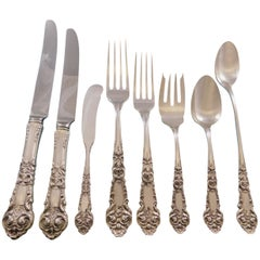 French Renaissance Reed & Barton Sterling Silver Flatware Set Service 70 Pcs Dn
