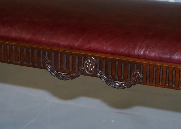 French Renaissance Revival 19th Century Rams Head Carved Bench Stool Window Seat For Sale 11