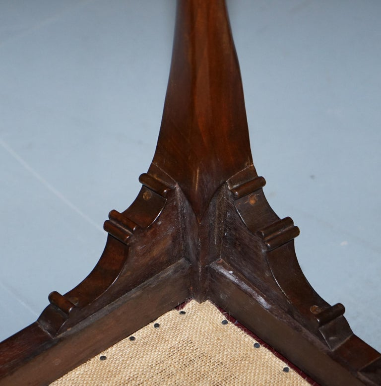 French Renaissance Revival 19th Century Rams Head Carved Bench Stool Window Seat For Sale 15