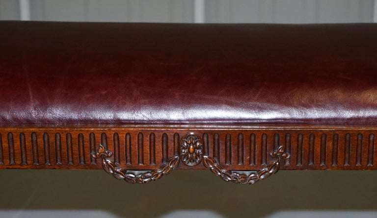 French Renaissance Revival 19th Century Rams Head Carved Bench Stool Window Seat For Sale 2