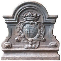 French Renaissance Style 'Coat of Arms' Fireback