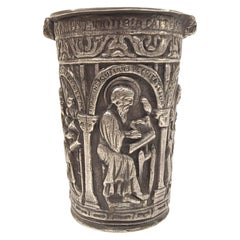 French Renaissance Style Silver Alloy Holy Water Bucket Situla