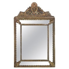 French Repousse Mirror, circa 1890