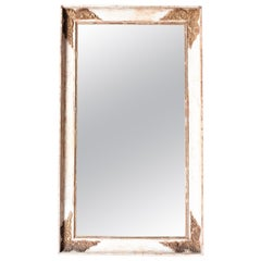 French Restauration Parcel Gilt Rectangular Wall Mirror