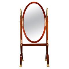 French Restauration Rocking Mirror