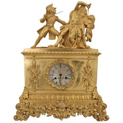 """French Restoration Clock of the """"Revolte Du Caire"""" of Anne-Louis Girodet"""