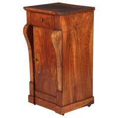 French Restoration Period Walnut Bedside Cabinet, 1820s