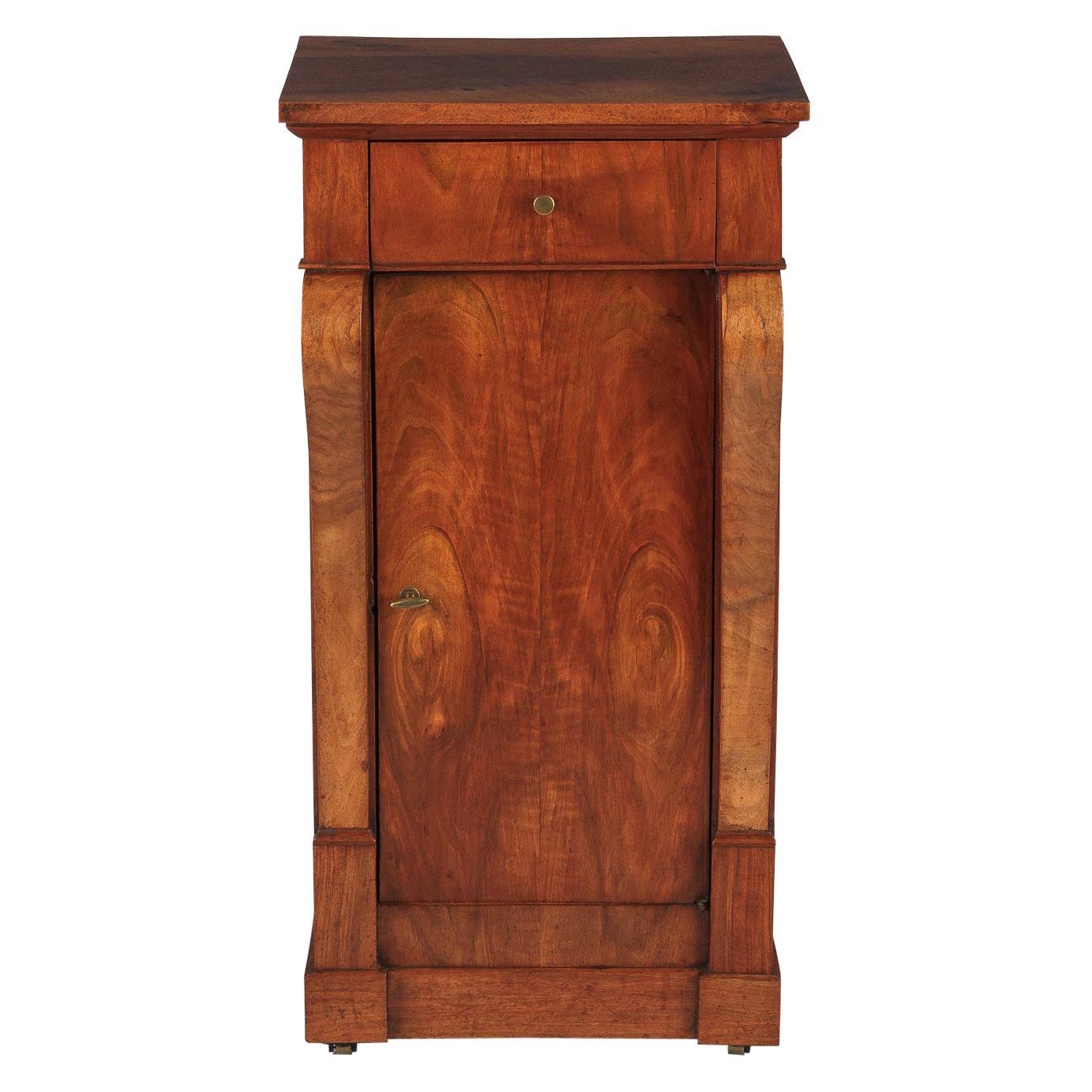 French Restoration Period Walnut Bedside Cabinet, 1820s