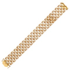 French Retro 1960s 18 Karat Rose Gold Link Bracelet
